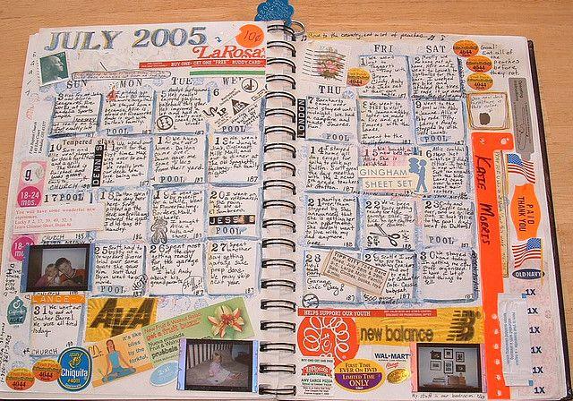 Calendar journaling - I love this idea!