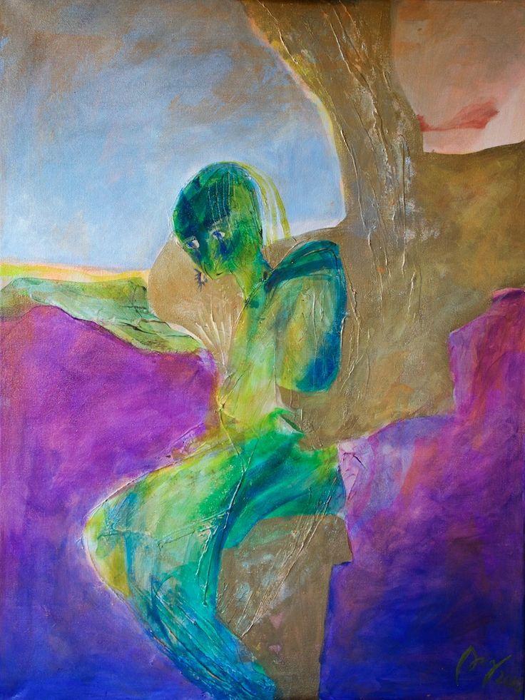 """ Love "", 2015, akryl/lerret, 80x60 cm"