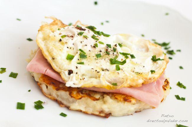 Rösti de patata con huevo de corral. Receta
