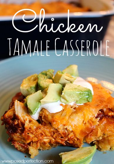 Chicken Tamale Casserole! This crowd pleaser is full of flavor with just the right amount of spice!