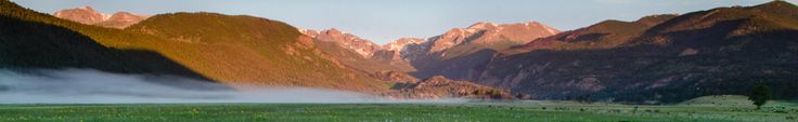 Hiking Essentials Photo of mist drifting over Moraine Park meadow on a spring morning. NPS Photo by C. Brindle