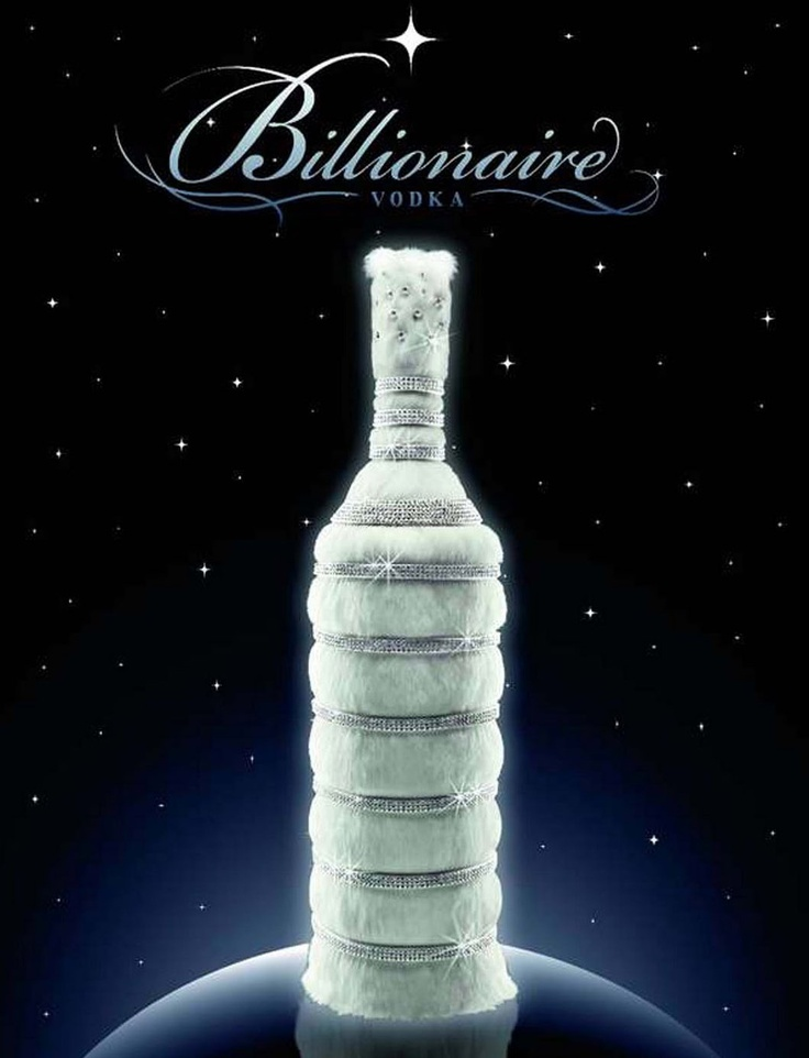 This bottle of Billionaire Vodka from the Leon Verres Luxury Group is studded with 3,000 genuine diamonds and costs a whopping 3.5 million dollars!