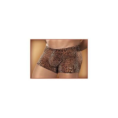 Pouch Short Nylon-Lycra Animal Brown Leopard-Large
