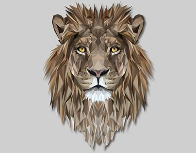 """Check out new work on my @Behance portfolio: """"Low Poly Lion"""" http://be.net/gallery/43246397/Low-Poly-Lion"""