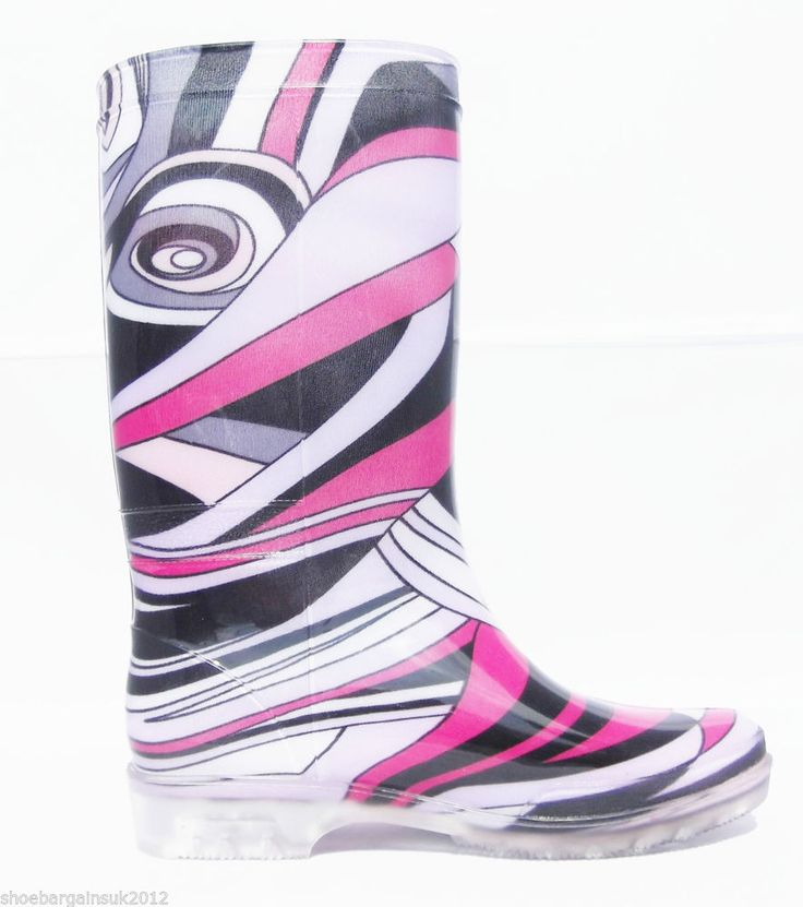 Womens Ladies Festival Multi Colour Wellies Pull On Wellington Rain Boots UK 3-8  New In! Only £9.99 with fast and free postage!