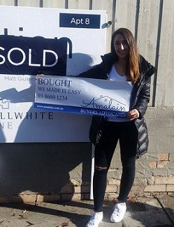 Client Marina is happy over the purchase of her first property with the help & full support of the Amalain team. #amalain #wemakeiteasy #melbre