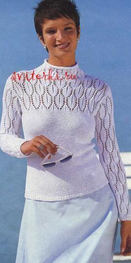 Вязанные свитера для женщин 2011г
