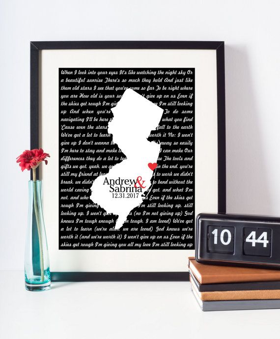 Wedding Song Lyrics Print First Dance Lyrics Art by DefineDesign11
