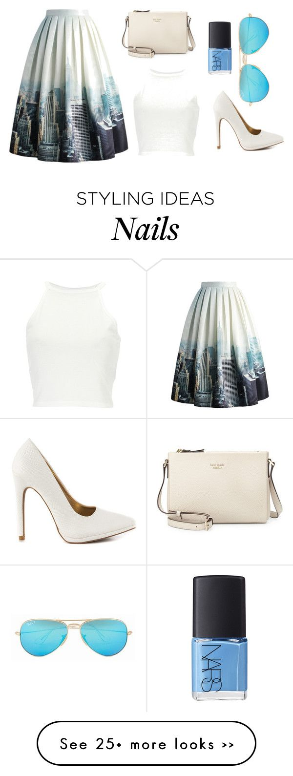 """Every day"" by veera01 on Polyvore featuring Chicwish, Qupid, Kate Spade, NARS Cosmetics and Ray-Ban"