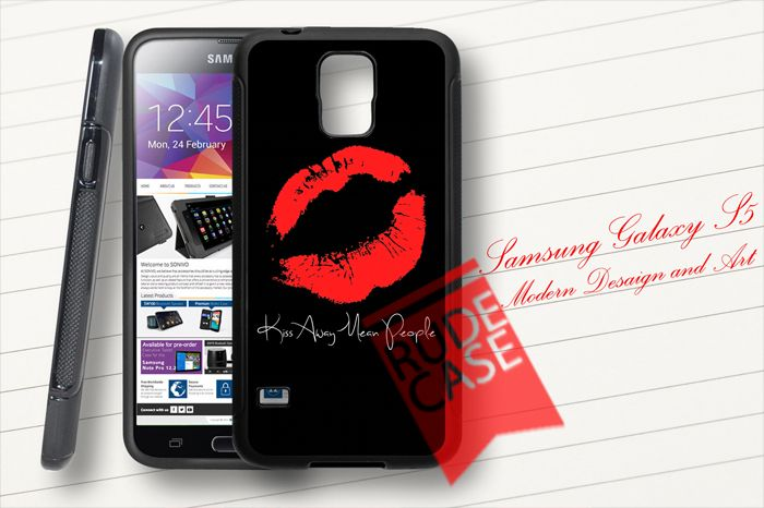 Samsung Galaxy S5 Case - silicone rubber  • Compatible with Samsung Galaxy S5 only. • Cases are made from Rubber. • Snaps onto the back of your smartphone. • Openings for the buttons and camera lens for easy accessibility. • Covers the back and sides of your Samsung Galaxy S5, leaving the front uncovered. • Color Black Only