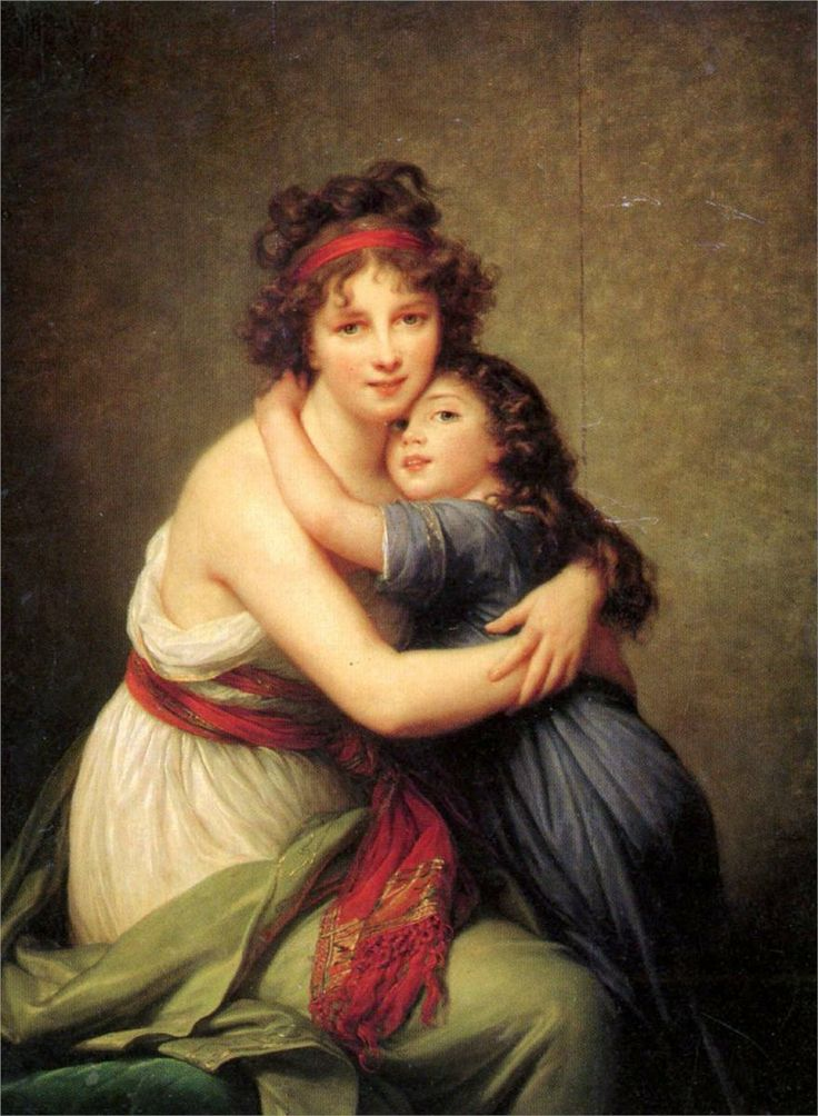 Madame Vigée Lebrun and her daughter, Jeanne Lucie Louise, 1789 - Louise Elisabeth Vigee Le Brun -