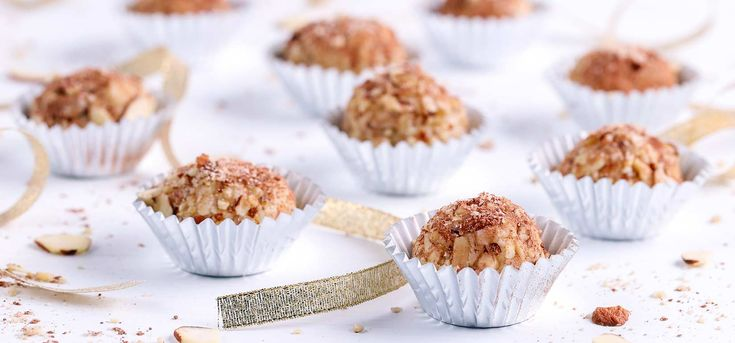 Simply Organic Holiday Organic Toasted Almond Tiramisu Truffles -Can substitute strong coffee for the rum
