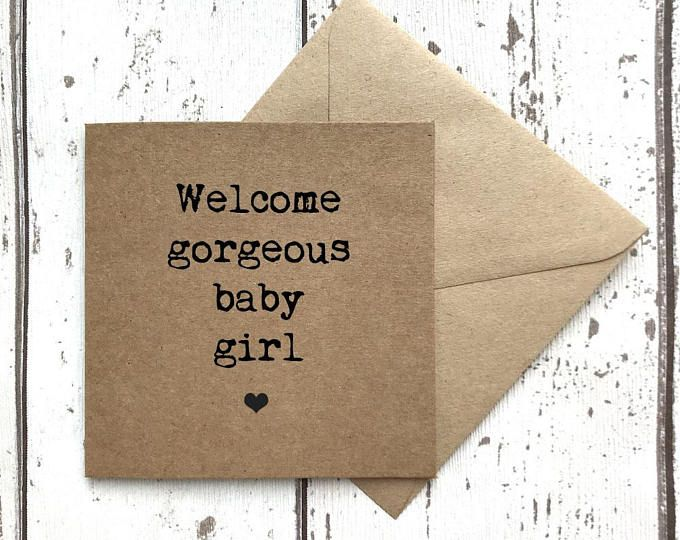 New baby card, welcome gorgeous baby girl card, new baby boy card, new arrival card, congratulations card, congratulations baby card