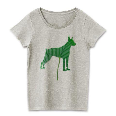 今回は葉っぱシリーズのドーベルマンシルエット。 葉っぱがTシャツになっちゃった、アーミードーベルマンだけど、なんかおしゃれな一枚★ #ドーベルマン #Tシャツ