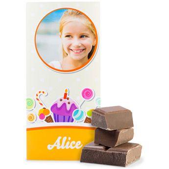 Schokoladentafel mit personalisierter Banderole - das passende Ostergeschenk für Naschkatzen
