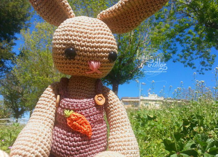 Conejo Amigurumi Patron Gratis : Conejo grande lanas y ovillos crochet amigurumi