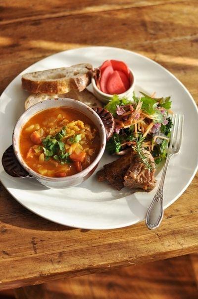冬の具だくさん野菜スープ ~モロッコ・ハリラ風~ & スペアリブの金柑 ...