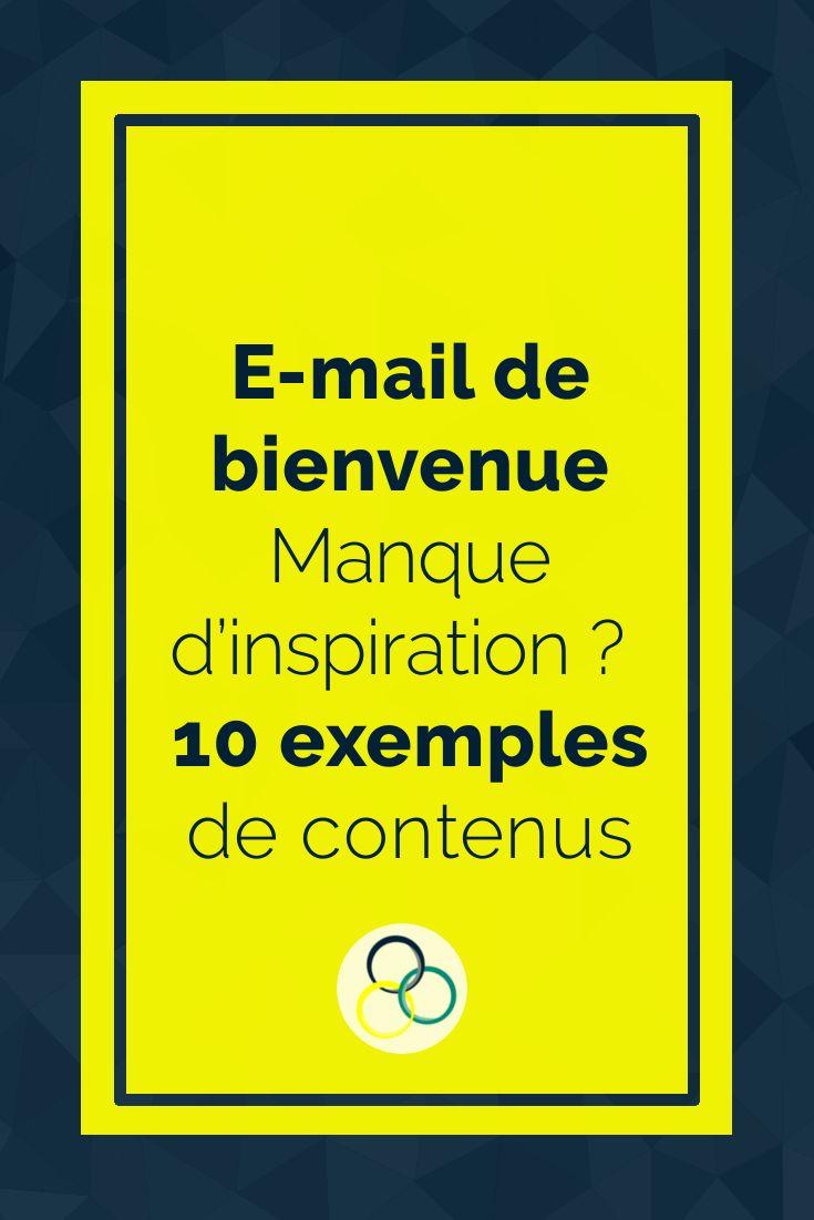 Email de bienvenue : rédige un message efficace [exemples ...