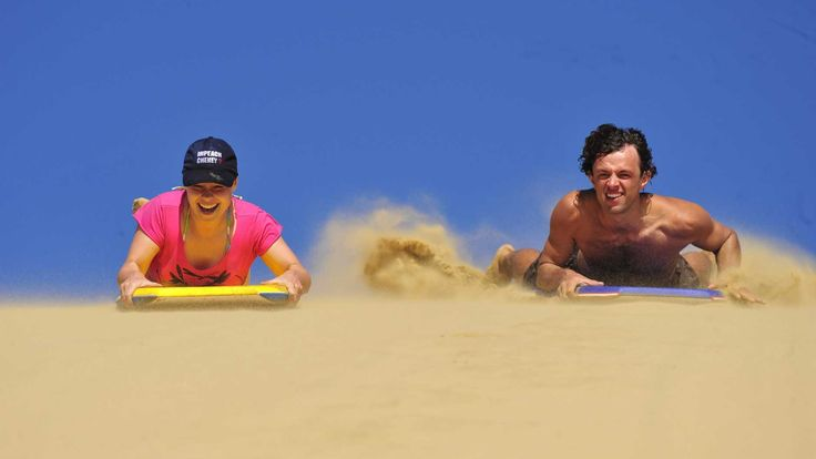Sand- boarding at Te Paki in Northland