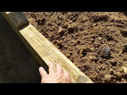 Building a Wall with Oak Sleepers   TRC Garden - YouTube
