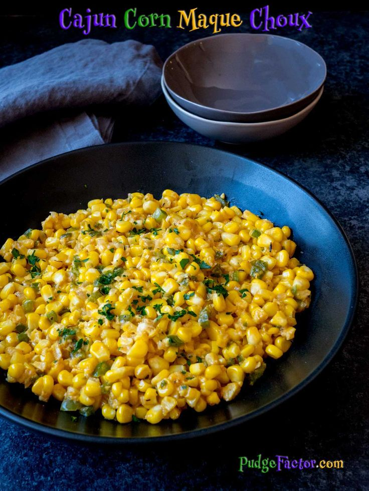 Cajun Corn Maque Choux (pronounced Mock Shoe) is a traditional Southern Louisiana dish, inspired by Native American Indians and early settlers to the region. via @c2king