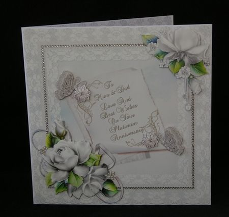 Platinum Wedding Anniversary   Mum   Dad on Craftsuprint - View Now!