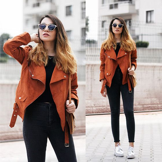 Get this look: http://lb.nu/look/8239137 More looks by Melike Gül: http://lb.nu/melikegul Items in this look: Sheinside Jacket, Cndirect Sunglasses, H&M Jeans #casual #minimal #street