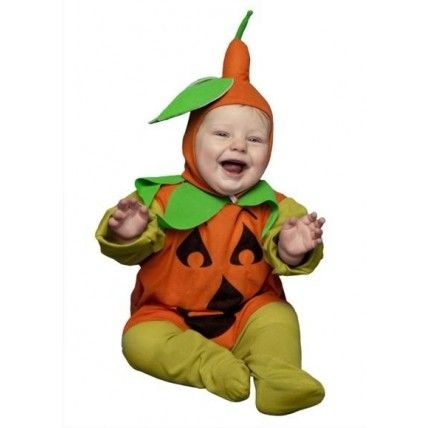 Disfraz de bebe calabaza compueto por mono y sombrero original disfraz de calabaza para disfrazar a tu bebe en halloween. 13,00 €