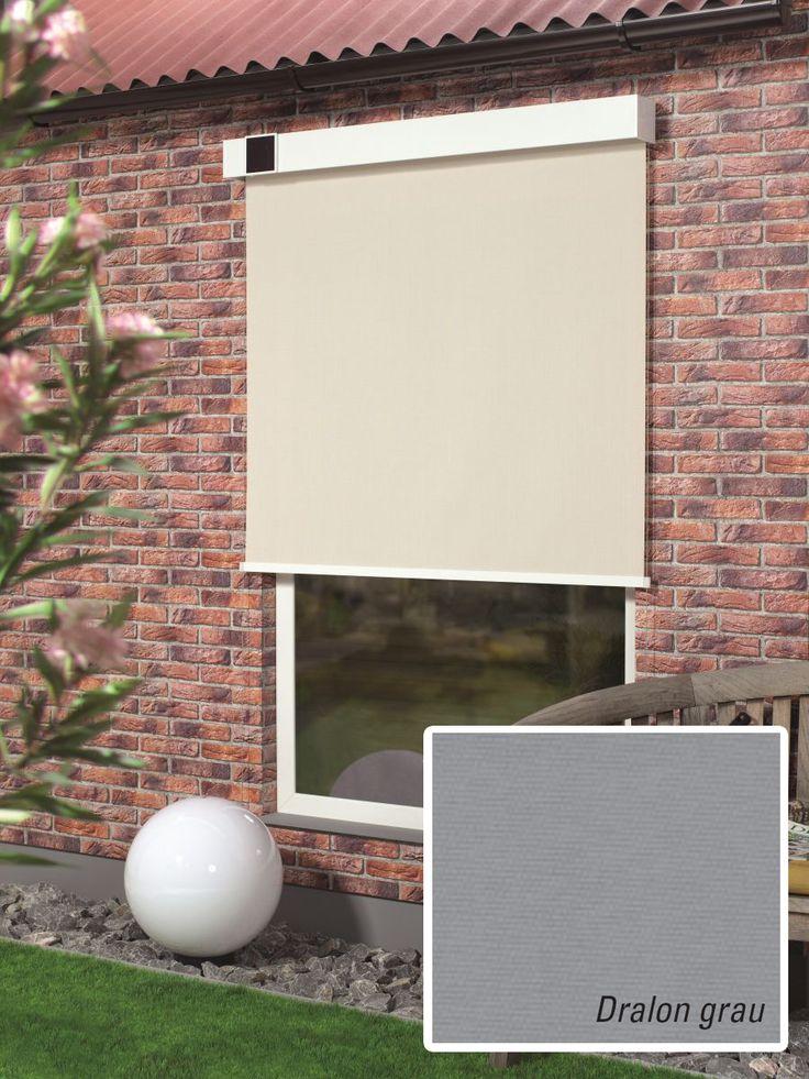 rollos f r den au enbereich das gardinia au enrollo mit solarantrieb ist in verschiedenen farben. Black Bedroom Furniture Sets. Home Design Ideas
