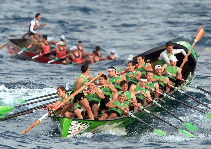 Traineras race, Basque Country, Spain.