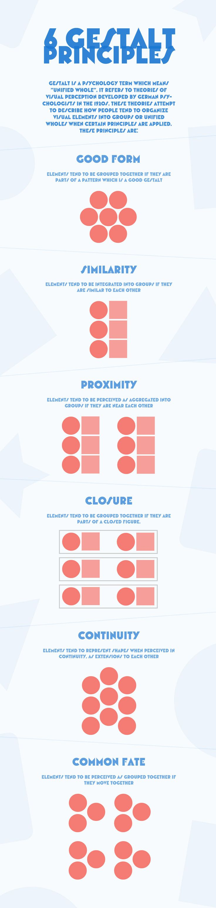 6 GESTALT PRINCIPLES on Behance | Just a little dataviz to illustrate the…