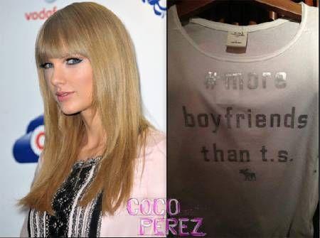 Taylor Swift Fans Force Abercrombie & Fitch To Yank Boyfriend Tee! http://perez.ly/148yznP