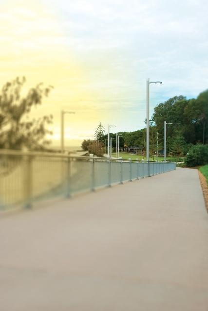 Towards the board walk (from Poison Apple Studios).