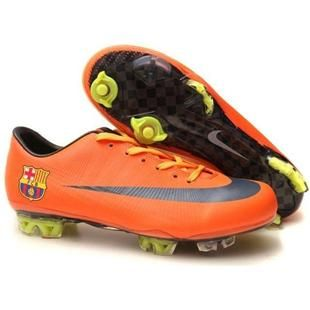 http://www.asneakers4u.com Nike Mercurial Vapor VIII FG Barcelona Team Orange and Black  Nike Firm Ground Football Shoes