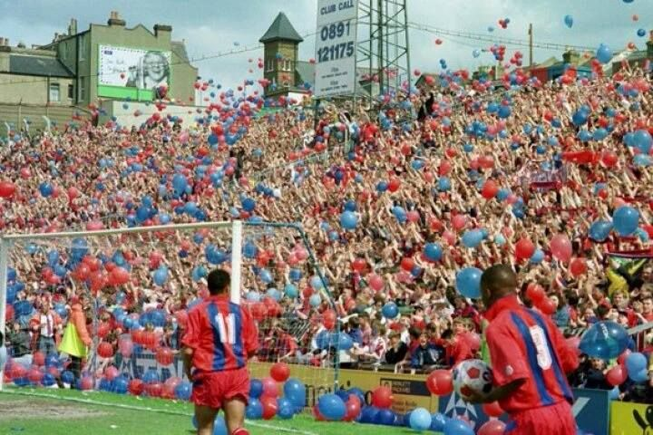 Crystal Palace vs Watford, 1994 - last day of the old Holmesdale Road terrace