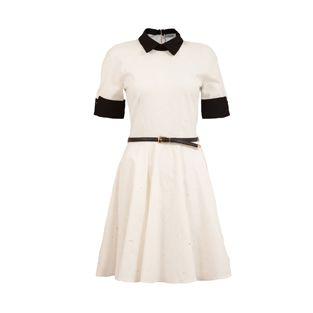 Closet Cream and Black Trim Dress   Price 69.95
