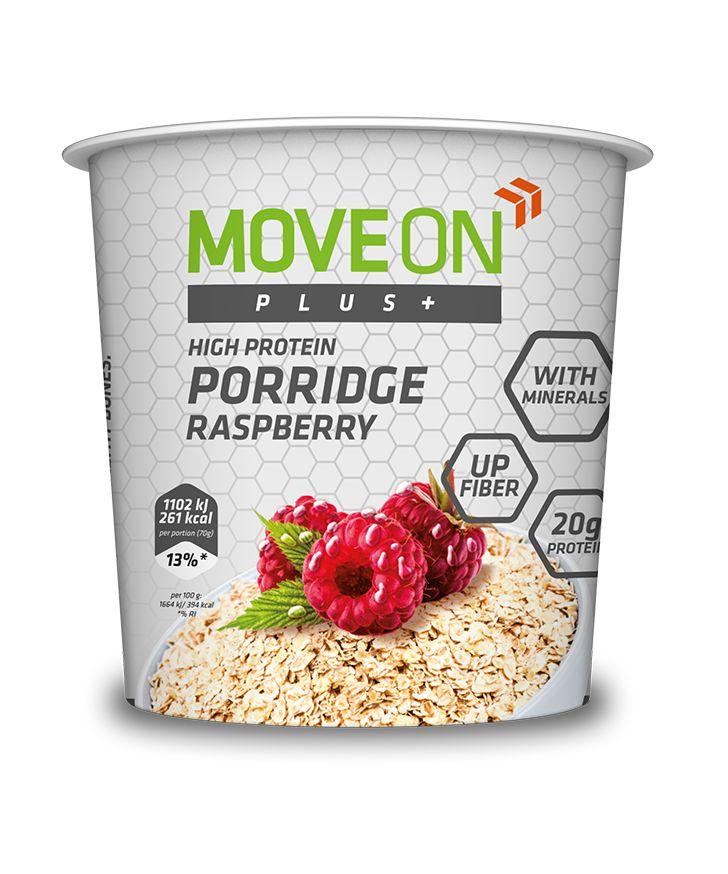 Owsianka malinowa wzbogacona minerałami i białkiem 70 g.   Porridge with minerals and protein - raspberry.  #moveon #moveonpl #moveonsport #sport #diet #maliny #oatmeal #owsianka #protein #food #fit #sport #fiber #nutrition #raspberry #dieta #inspiracje