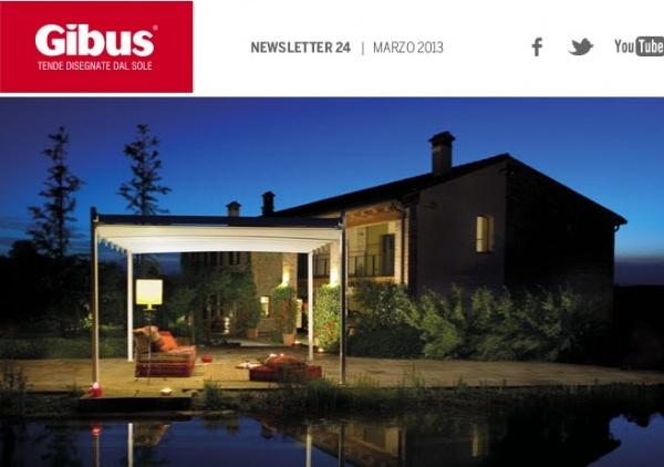 Poze newsletter Gibus, pergole si copertine pentru terase, aplicatii si modele pergole FLY cu structuri din lemn sau aluminiu. Poza detaliu pergole Fly , news 24-1. Pergola Fly imagine seara.