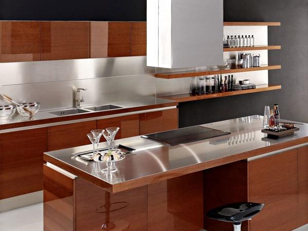 GOLD TREND / Acabado en madera y terminado en laca brillante.  #home #kitchens #Decor