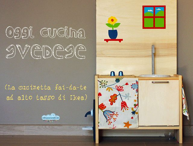 la cucina giocattolo realizzata hackerando un comodino Ikea    Our play-kitchen from an Ikea nightstand