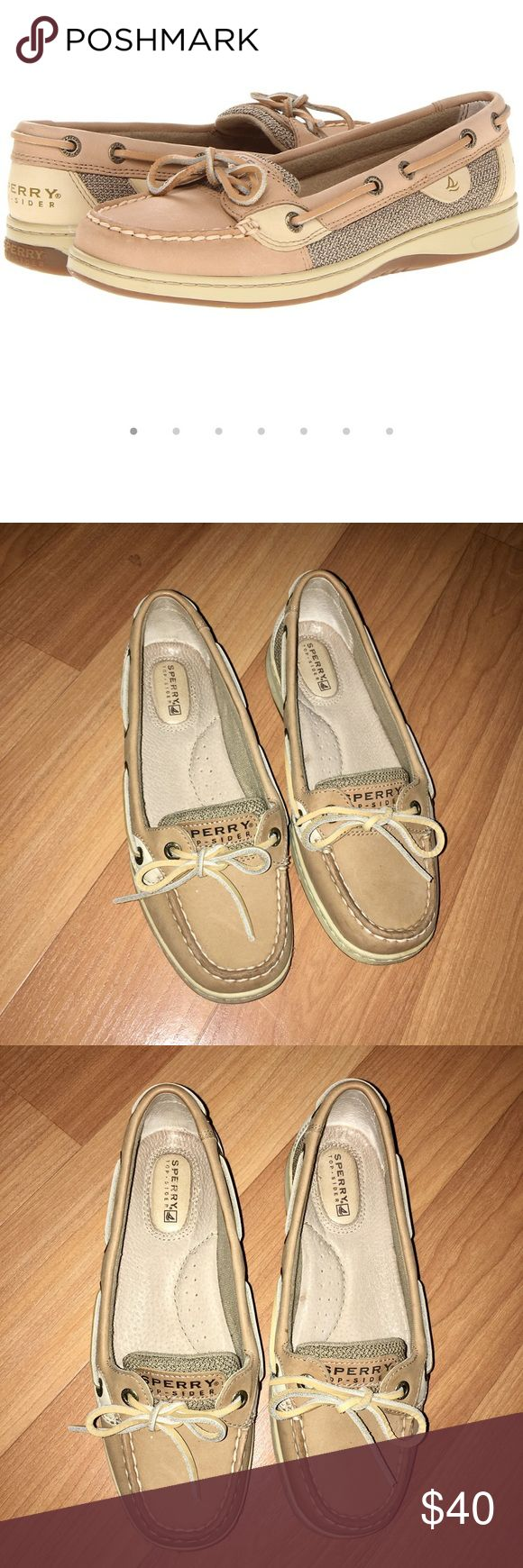 Sperry Angelfish Boat Shoes Color: Linen/ Oat. Worn no more than 5 times. Good condition. No shoe box. Sperry Shoes
