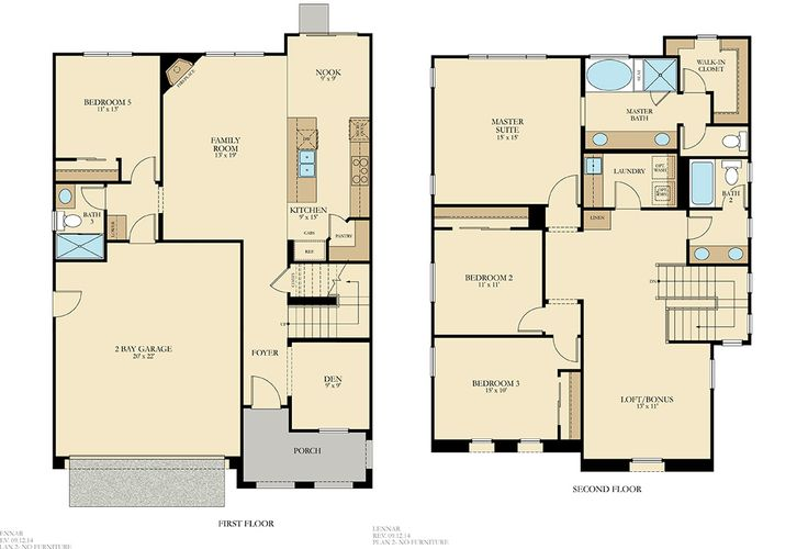 54 best lennar seattle floorplans images on pinterest for 16 x 48 house plans