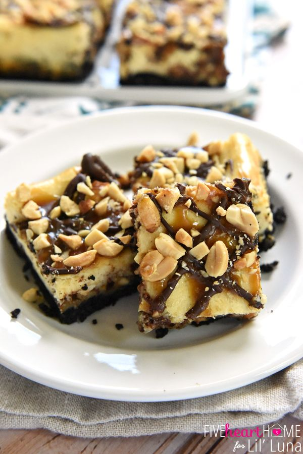Snickers Cheesecake Bars | Recipe | Snickers Cheesecake, Cheesecake ...