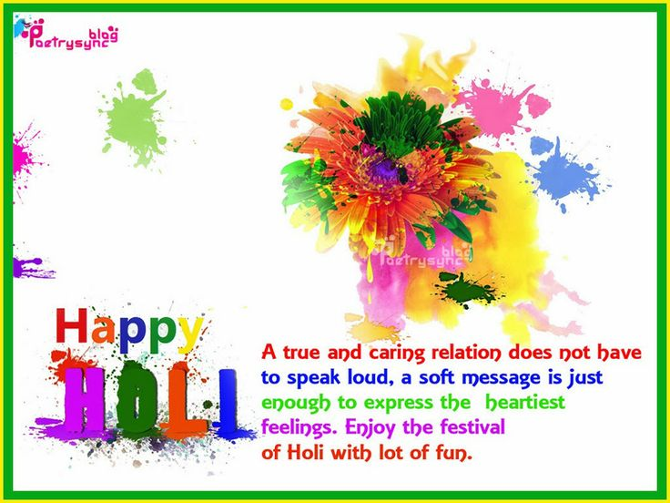 Happy Holi Wishes Image with Message Holi Celebration in March 2014 Picture