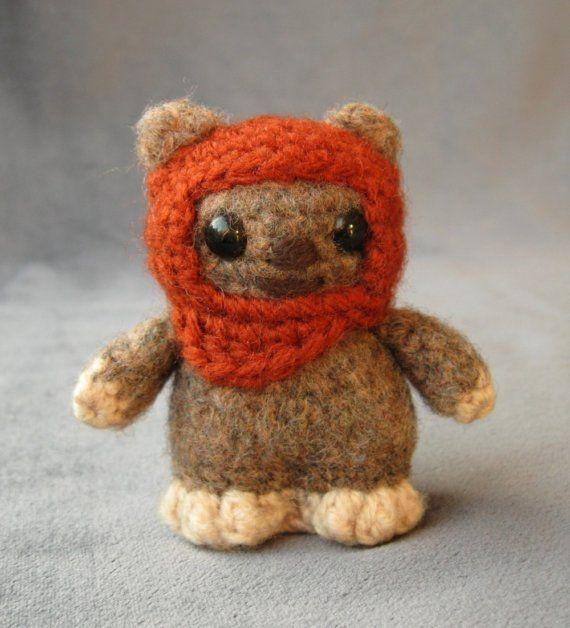 crocheted ewok. Love.