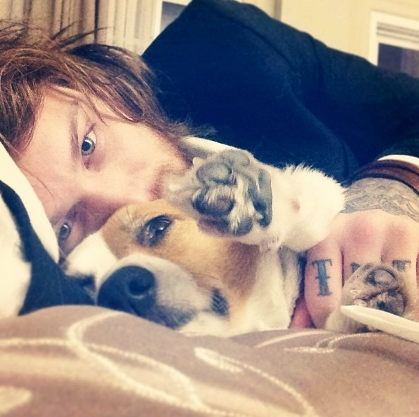 Danny Worsnop.   Yeah, I could wake up next to this everyday and be totally content with life...