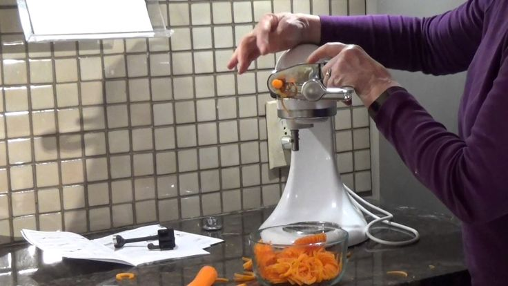 How to use kitchenaids mixer attachment that spiralizes