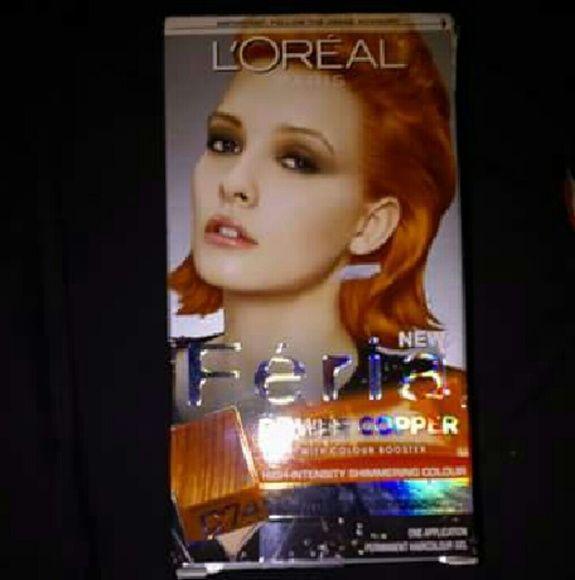 Feria Intense Copper Hair dye. Intense Copper hair dye Accessories Hair Accessories