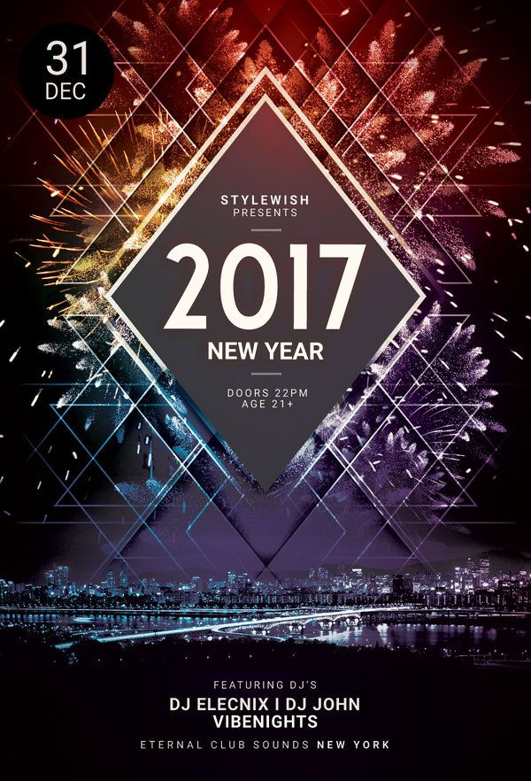 40 best new year flyer design images on pinterest