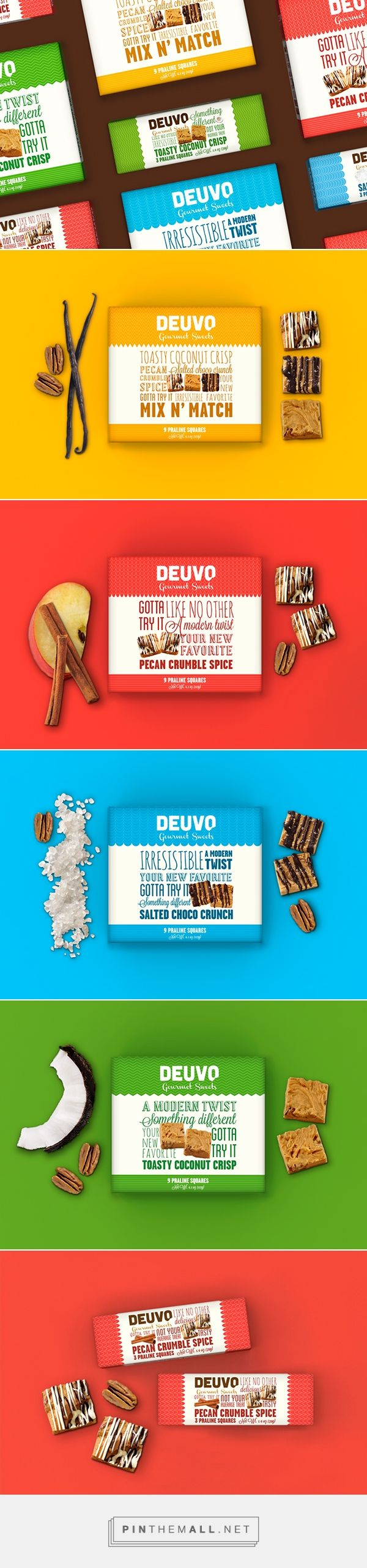 Deuvo on Behance / Deuvo Gourmet Sweets is an American family business specialised in handmade pralines with natural and premium ingredients.